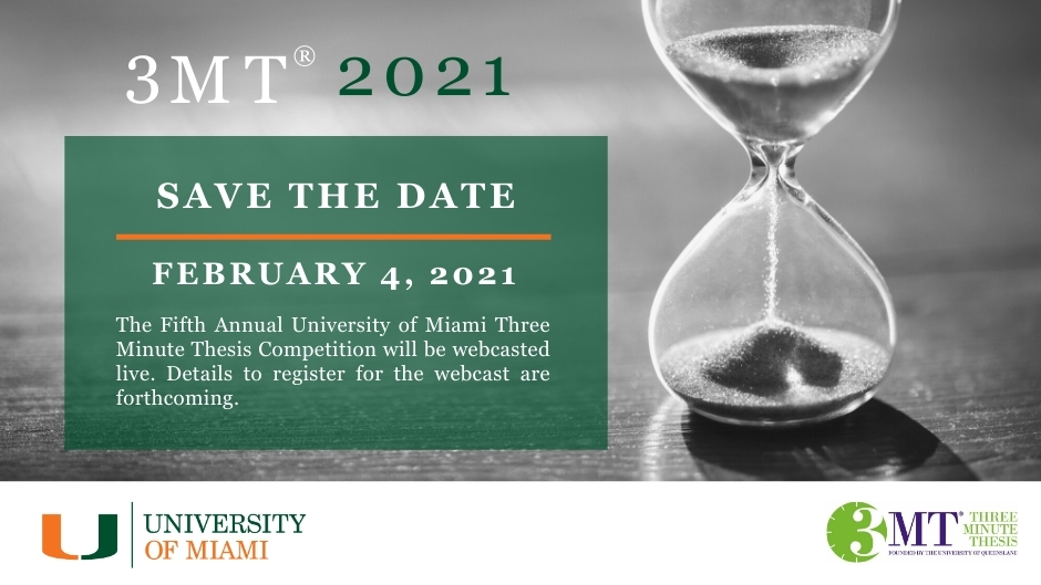 3MT 2021 will be on february 4