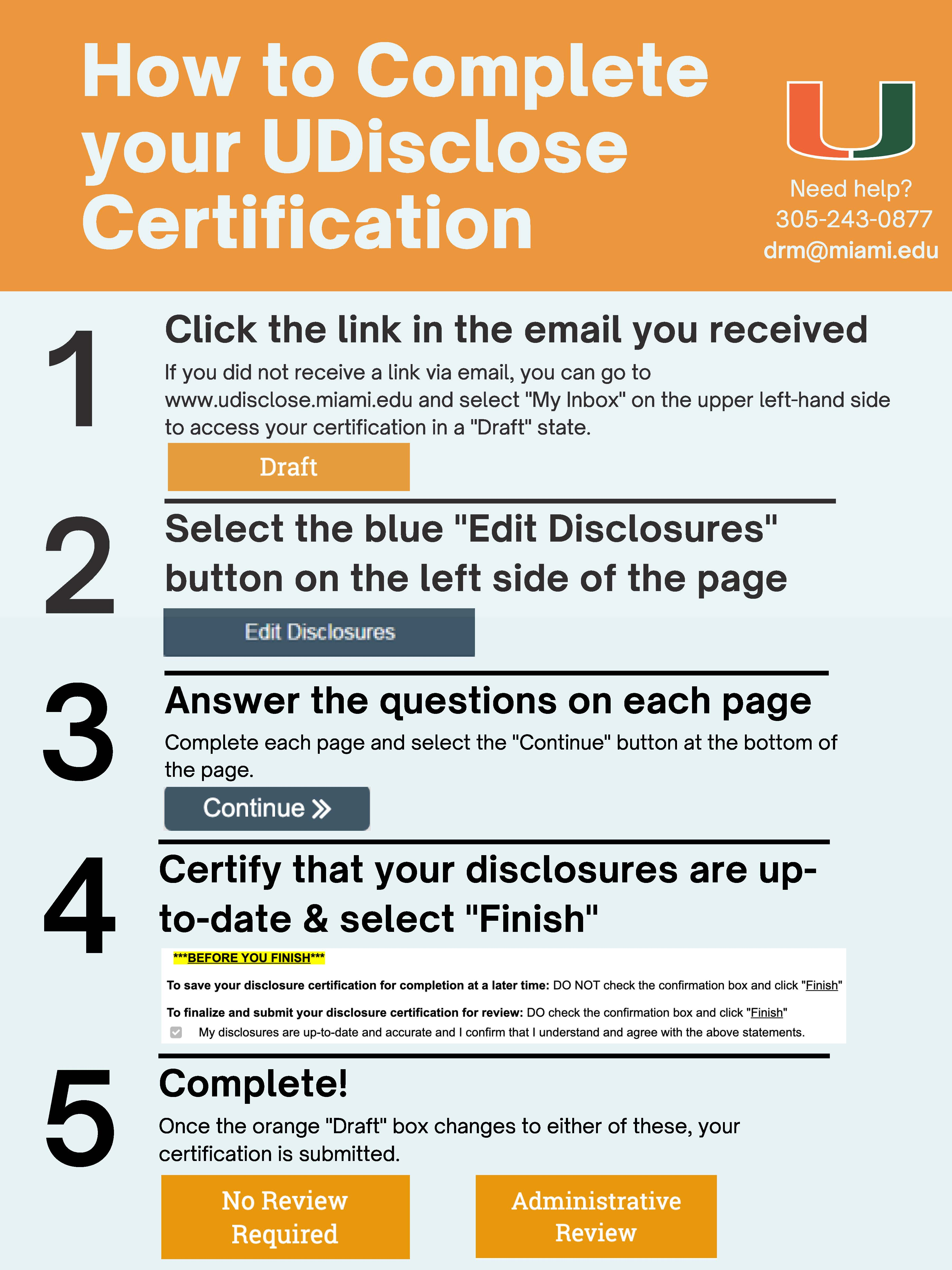 udisclose certification how-to